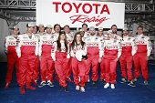 LONG BEACH, CA - APR 3: Kate Del Castillo with other celeb racers at the 36th Annual 2012 Toyota Pro/Celebrity Race - Press Practice Day on April 3, 2012 in Long Beach, California