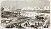 Gettysburg battlefield old view, Pennsylvania. Created by Janet-Lange, published on L'Illustration, Journal Universel, Paris, 1863