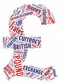 stock photo of british pound sterling note  - Pound Sterling Currency Symbol - JPG