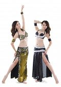 Duett Belly Dancer posing on white