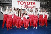 LONG BEACH, CA - APRIL 3: Kate Del Castillo with other celeb racers at the 36th Annual 2012 Toyota P