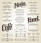 Decorative Calligraphy Set - editable vector illustrations
