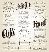 Decorative Calligraphy Set - editable vector illustrations