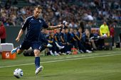 CARSON, CA. - MAY 14: Sporting Kansas City D Michael Harrington #2 during the MLS game on May 14, 20