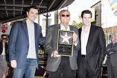 LOS ANGELES, CA - APR 5: Seth MacFarlane, Adam West, Ralph Garman at a ceremony where Adam West is h