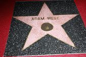 LOS ANGELES, CA - APR 5: Adam West star at a ceremony where Adam West is honored with a star on the Hollywood Walk of Fame on April 5, 2012 in Los Angeles, California