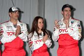 LOS ANGELES - APR 3:  Eddie Cibrian, Kate del Castillo, Adam Carolla at the 2012 Toyota Pro/Celeb Ra