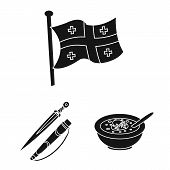 Vector Design Of Heritage And Originality Symbol. Collection Of Heritage And Traditions Stock Symbol poster
