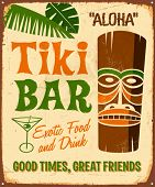 picture of tiki  - Vintage metal sign  - JPG