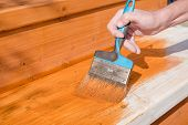 Paint The Porch With Orange Paint. Decorate The Terrace. Paint The Boards With A Wide Brush. To Make poster