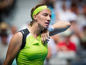 MELBOURNE - JANUARY 21: Svetlana Kuznetsova of Russia in her third round loss to sabine Lisickiof Ge