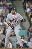 LOS ANGELES - JUNE 20: Detroit Tigers 1B Miguel Cabrera #24 during the Major League Baseball game on