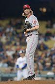 LOS ANGELES - JUNE 13: Cincinnati Reds starting pitcher Bronson Arroyo #61 during the Major League B