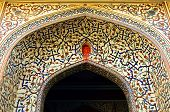 Architectural detail in Jaipur City Palace, Rajasthan, India