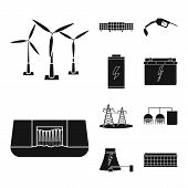 Isolated Object Of Climate And Alternative Icon. Collection Of Climate And Nature Stock Symbol For W poster
