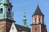 image of stanislaus church  - Cathedral of Wawel Royal Castle in Krakow Poland Europe  - JPG