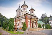 The Great Church at the Sinaia Monastery in Sinaia. Transylvania. Romania. poster