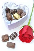 Chocolates And Red Rose