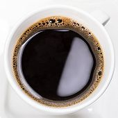 Cup of fresh black coffee