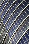 Azul vidro alta ascensão edifício arranha-céus