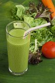 refreshing vegetable smoothie milk shake
