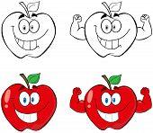 Apple Cartoon Mascot Characters