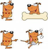 Dogs Cartoon Mascot Characters Collection