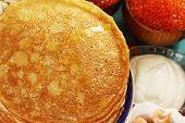 Pancakes Close-up