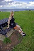 Girl Sitting Wearing Leg Brace