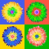 Pop art flower.