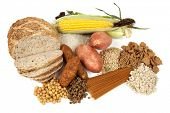 stock photo of carbohydrate  - Food sources of complex carbohydrates - JPG