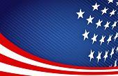 Diseño de la bandera americana