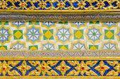 Bangkok, Thailand - Royal Palace and Wat Phra Kaeo Complex - wall detail