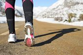 Winter Exercise And Run Concept