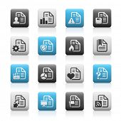 Documents Icons - 2 // Matte Series