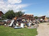 picture of scrap-iron  - A big pile of all the different kinds of scrap iron ready for recycling - JPG