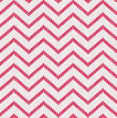Style Seamless Knitted Pattern. Red White Color Illustration From My Large Collection Of Samples Of