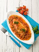 fish fillet with tomato sauce