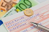 stock photo of bic  - a number schin for transfer or cash payment with iban and bic code from austria - JPG