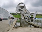 Falkirk - October 18:view Of The Falkirk Wheel On October 18, 20