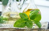 Olive Oil, Vinegar And Basil