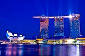 SINGAPORE - FEBRUARY 1, 2013:Marina Bay Sands, designed by Moshe Safdie, integrated resort casino ,s