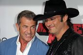 LOS ANGELES - OCT 2:  Mel Gibson, Robert Rodriguez at the