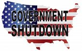 Government Shutdown Usa Map Illustration