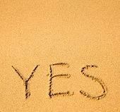 Yes - written in sand texture.