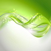 foto of waving  - Abstract green waving background - JPG