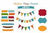 stock photo of holiday symbols  - Set of holiday scrap - JPG