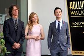 LOS ANGELES - OCT 3:  Jay Roach, Chloe Grace Moretz, Joseph Gordon-Levitt at the Hollywood Walk of F