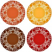 Antique Lace Doily Place Mats, Harvest Colors