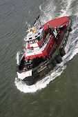 Tugboat on River boat